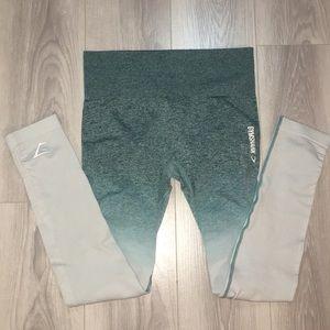 Gymshark Ombre leggings - deep teal / ice blue